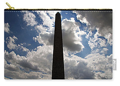 Carry-all Pouch featuring the photograph Silhouette Of The Washington Monument by Cora Wandel