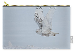 Carry-all Pouch featuring the photograph Snowy Owl #3/3 by Patti Deters