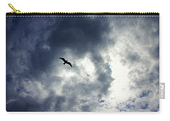 Carry-all Pouch featuring the photograph Storm Flyer by Marilyn Wilson
