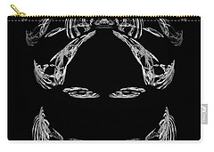 Carry-all Pouch featuring the digital art Veiled Lady by Jane McIlroy
