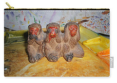 3 Wise Monkeys Watercolor Pallet Carry-all Pouch