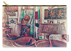 Carry-all Pouch featuring the photograph 3-wok Kitchen by Jim Thompson
