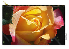 Yellow Rose Carry-all Pouch by Catherine Gagne