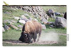 Carry-all Pouch featuring the photograph Yellowstone Bison by Michael Chatt