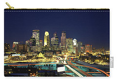 Buildings Lit Up At Night In A City Carry-all Pouch