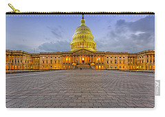Carry-all Pouch featuring the photograph Capitol Building by Peter Lakomy