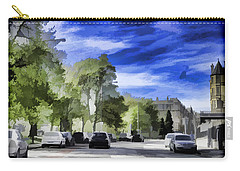 Cars On A Street In Edinburgh Carry-all Pouch by Ashish Agarwal