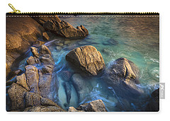 Carry-all Pouch featuring the photograph Chanteiro Beach Galicia Spain by Pablo Avanzini