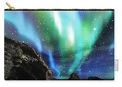Carry-all Pouch featuring the mixed media Dramatic Aurora by Atiketta Sangasaeng