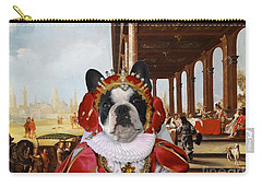 French Bulldog Art Canvas Print Carry-all Pouch