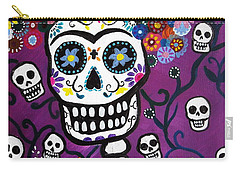 Carry-all Pouch featuring the painting Frida Dia De Los Muertos by Pristine Cartera Turkus