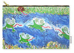 4 Frogs And A Bear Carry-all Pouch