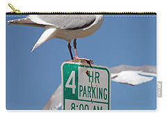 Carry-all Pouch featuring the photograph 4 Hour Parking by E Faithe Lester