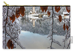 Lake Bohinj In Winter Carry-all Pouch by Ian Middleton