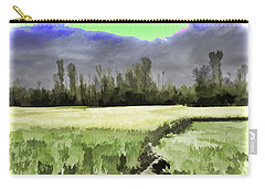 Mustard Fields In Kashmir Carry-all Pouch by Ashish Agarwal