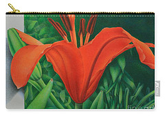 Orange Lily Carry-all Pouch by Pamela Clements