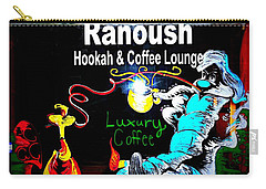 Ranoush Hookah And Coffee Lounge Carry-all Pouch by Kelly Awad
