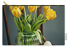 Still Life With Yellow Tulips Carry-all Pouch by Nailia Schwarz