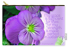 Carry-all Pouch featuring the photograph Sufficient Grace by Larry Bishop