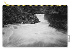 The Soteska Vintgar Gorge In Black And White Carry-all Pouch