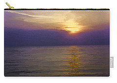 View Of Sunset Through Clouds Carry-all Pouch by Ashish Agarwal