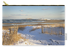 Winter At Popham Beach State Park Maine Carry-all Pouch by Keith Webber Jr