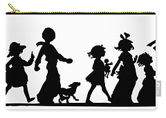 Carry-all Pouch featuring the digital art 4th Of July Childrens Parade Panorama by Rose Santuci-Sofranko