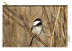 Black-capped Chickadee Carry-all Pouch by Linda Freshwaters Arndt