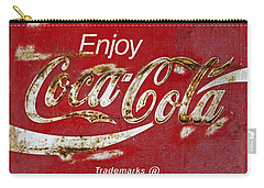 Coca Cola Vintage Rusty Sign Carry-all Pouch