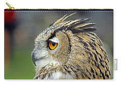 European Eagle Owl Carry-all Pouch by Tony Murtagh