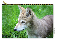 Gray Wolf Pup Carry-all Pouch