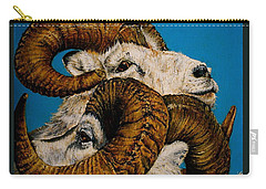 Horns Carry-all Pouch by Linda Simon