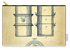 Oil Drum Patent Drawing From 1905 Carry-all Pouch