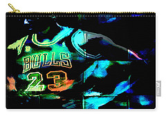 Carry-all Pouch featuring the digital art 5 Seconds Left by Brian Reaves