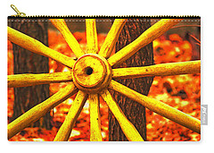 Carry-all Pouch featuring the photograph Wheels Of Time by Rowana Ray