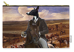 Whippet  Art Canvas Print Carry-all Pouch