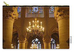 Architectural Artwork Within Notre Dame In Paris France Carry-all Pouch
