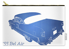 Classic Cars Carry-all Pouch featuring the photograph '55 Bel Air by Aaron Berg
