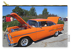 Carry-all Pouch featuring the photograph 55 Chevy Belair by Aaron Martens