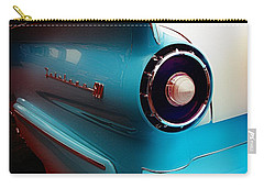 Classic Cars Carry-all Pouch featuring the photograph '57 Fairlane 500 by Aaron Berg