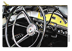 Vehicles Carry-all Pouch featuring the photograph '57 Ford Fairlane 500 by Aaron Berg