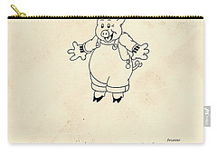 Disney Pig Patent Carry-all Pouch by Marlene Watson