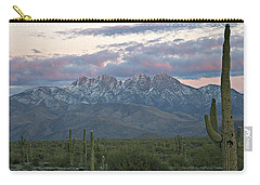 Four Peaks Sunset Snow Carry-all Pouch