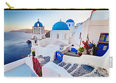 Oia Town On Santorini Greece Carry-all Pouch