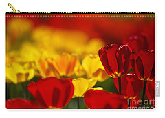 Red And Yellow Tulips Carry-all Pouch by Nailia Schwarz