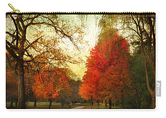 Carry-all Pouch featuring the photograph Autumn Promenade by Jessica Jenney