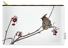 Bohemian Waxwings Eating Rowan Berries Carry-all Pouch