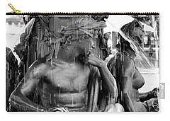 Brewer Fountain Boston Ma Black And White Carry-all Pouch