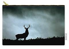 Carry-all Pouch featuring the photograph Stag Silhouette by Gavin Macrae