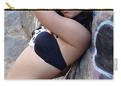 Carry-all Pouch featuring the photograph Young Hispanic Woman by Henrik Lehnerer